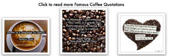 Famous coffee quotations